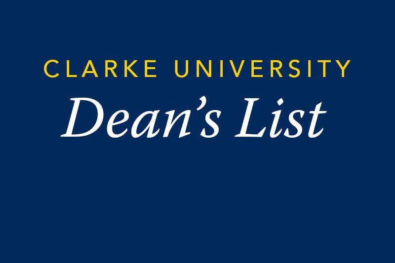 Clarke University Dean's List