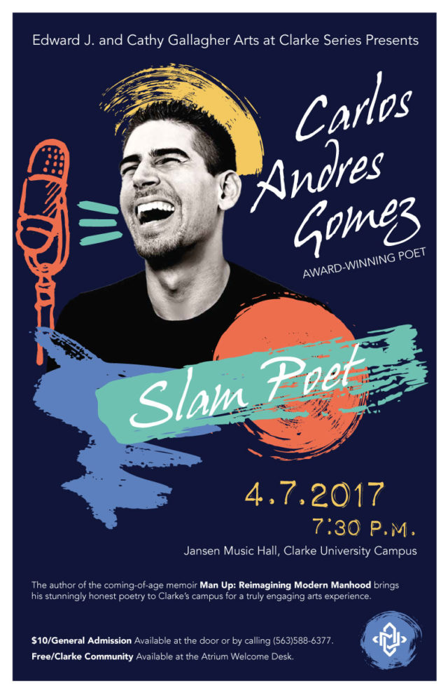 Andres Gomez at Clarke poster