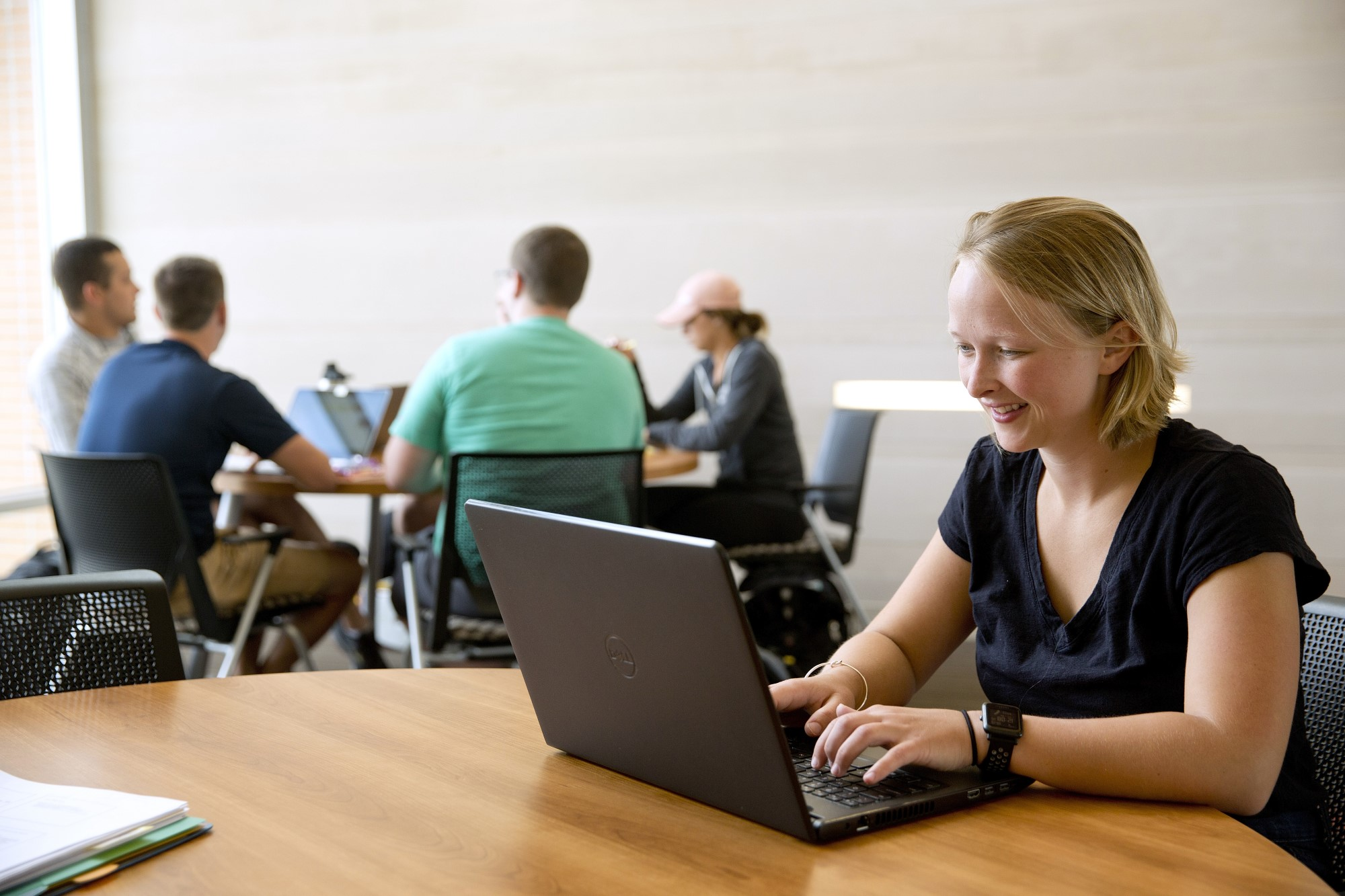 Clarke University Accounting Degree students studying online for their classes