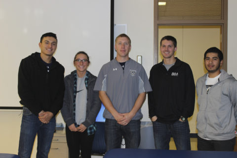 Clarke University students in the Business Club manage a portoflio of over $40,000
