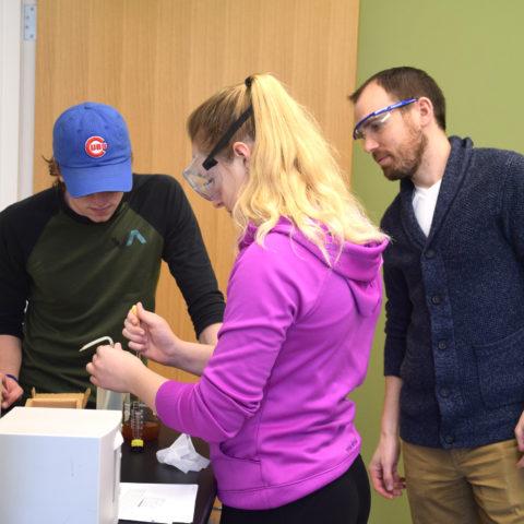 Biochemistry Degree Professors teaching students at Clarke University