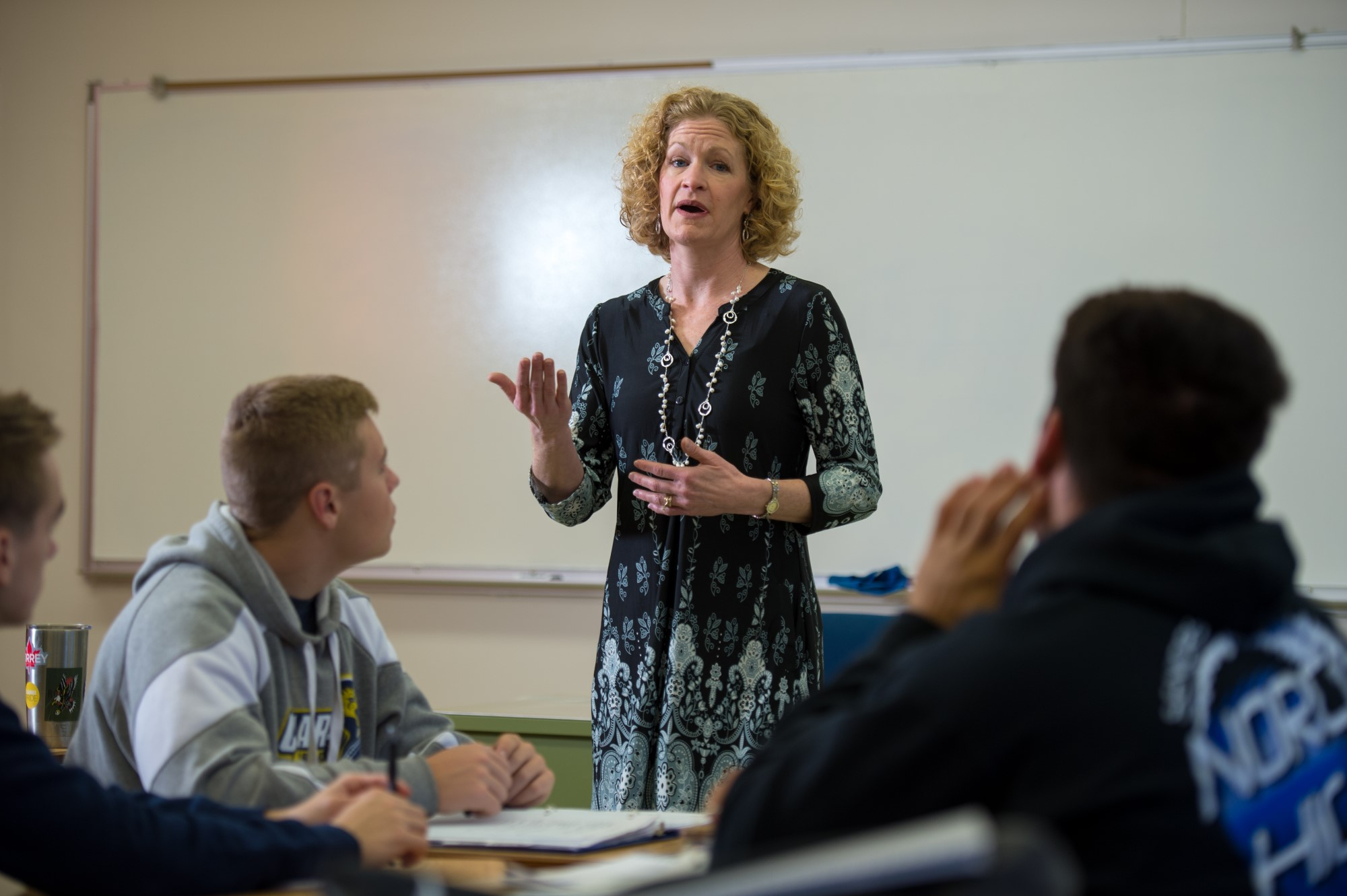 Clarke University Business Administration Majors gaining in-class instruction.