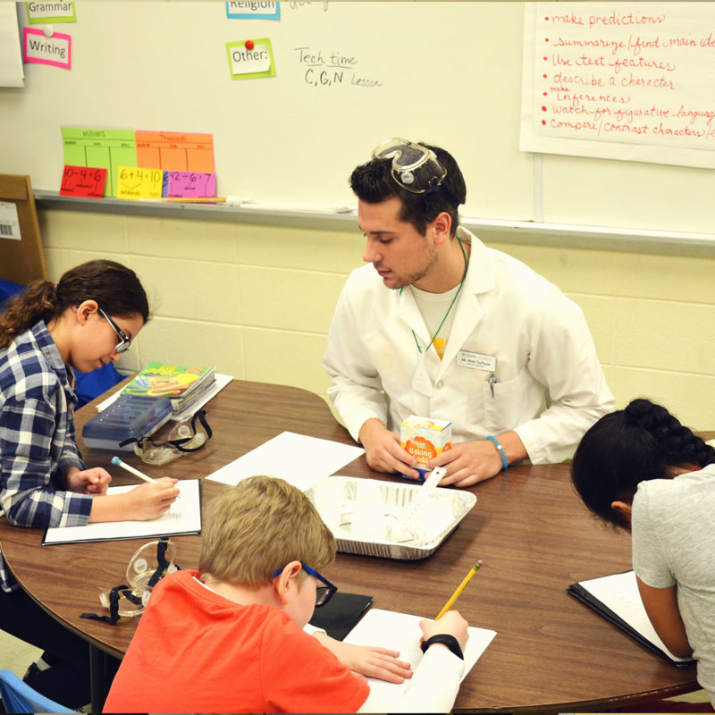 Education Major gaining some in-classroom experience