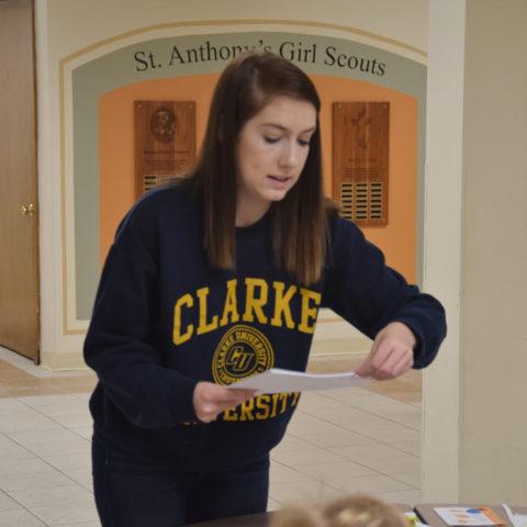 Clarke University Education Degree student studying