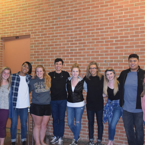 Group of Clarke students with Filharmonic