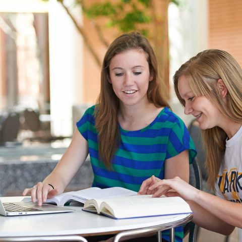 Accounting Students at Clarke University complete homework