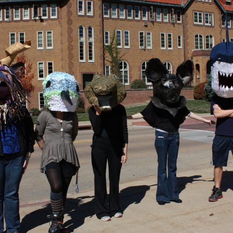 Students make masks