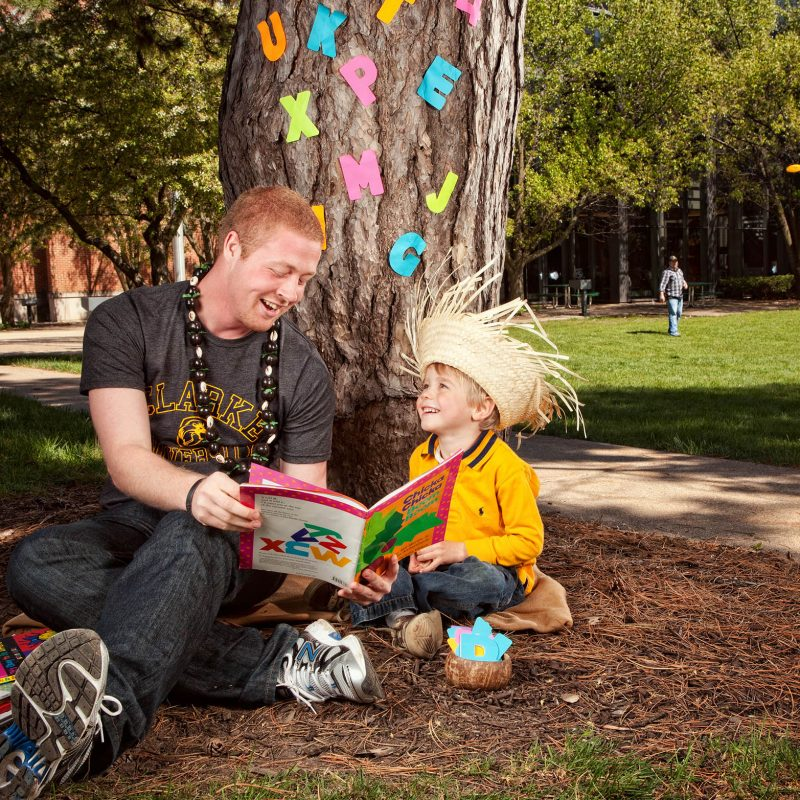 Education Major Mike Mulloy reading