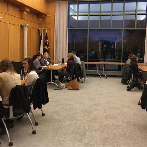 Education Degree Students Conduct A Mock Trial