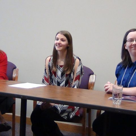 Students in the English Major Streamlines at Clarke University