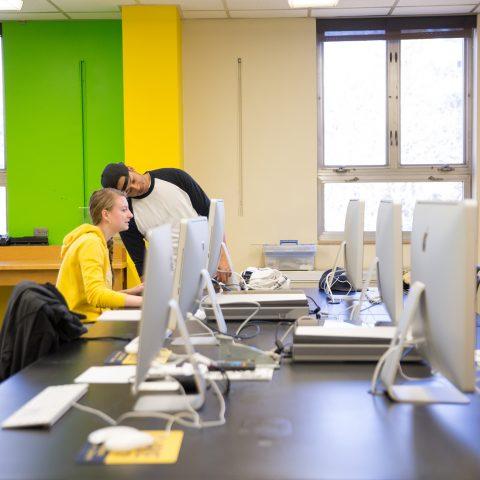 Clarke University's Graphic Design Lab Art