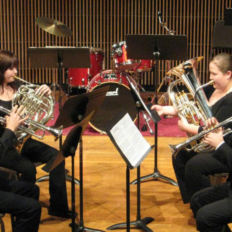Clarke University Music Major Students learning