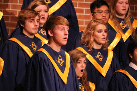 Clarke Univversity Music Majors participating in choir