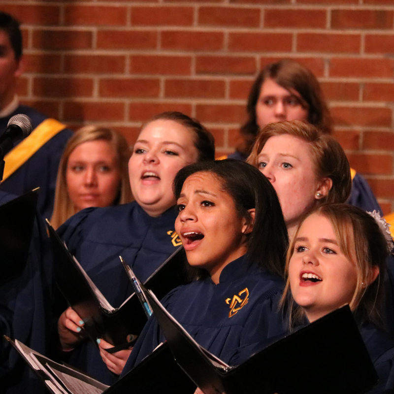 Clarke University Choir in performance