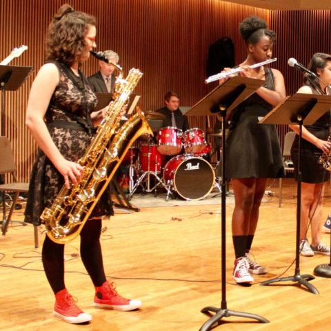 Music Majors performing at Clarke University