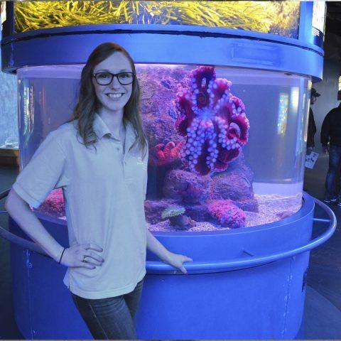 Clarke University Biology Major Paige Tomson at her Biochemistry Internship