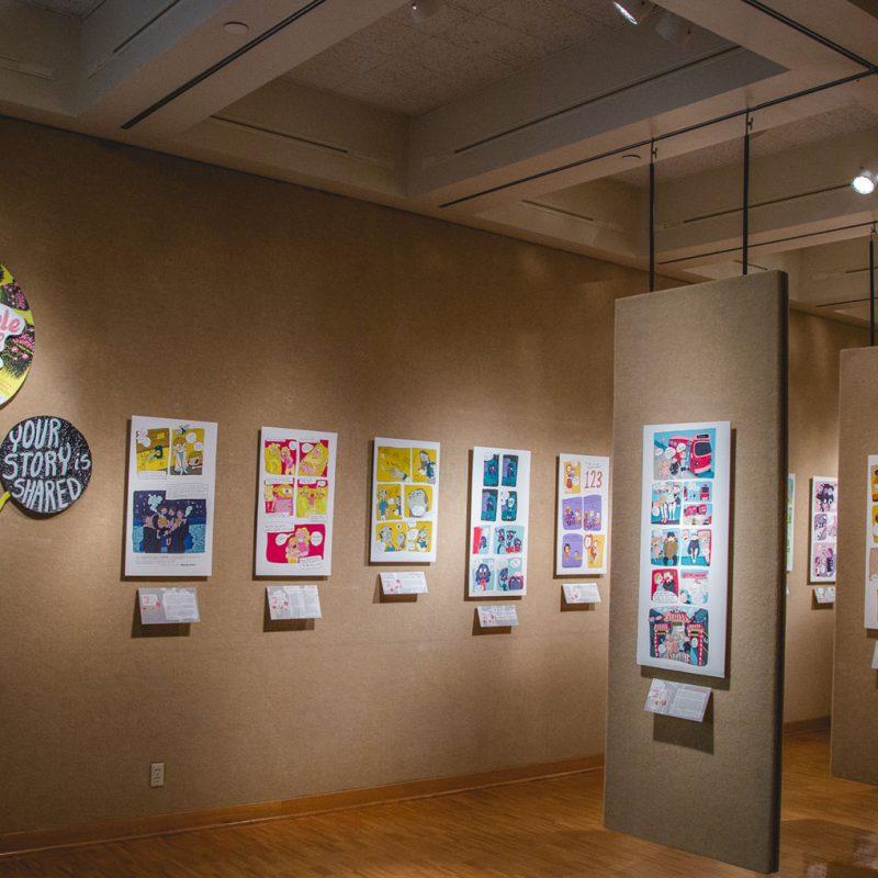 Clake University's Quigley Art Gallery