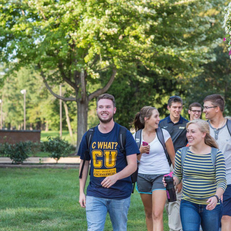 Clarke Visit Campus