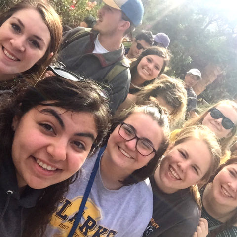 Group of Clarke Business Schoool students while studying abroad in Ecuador
