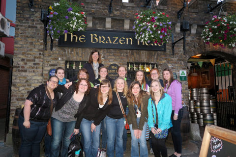 Clarke University music degree program students studying abroad in Ireland