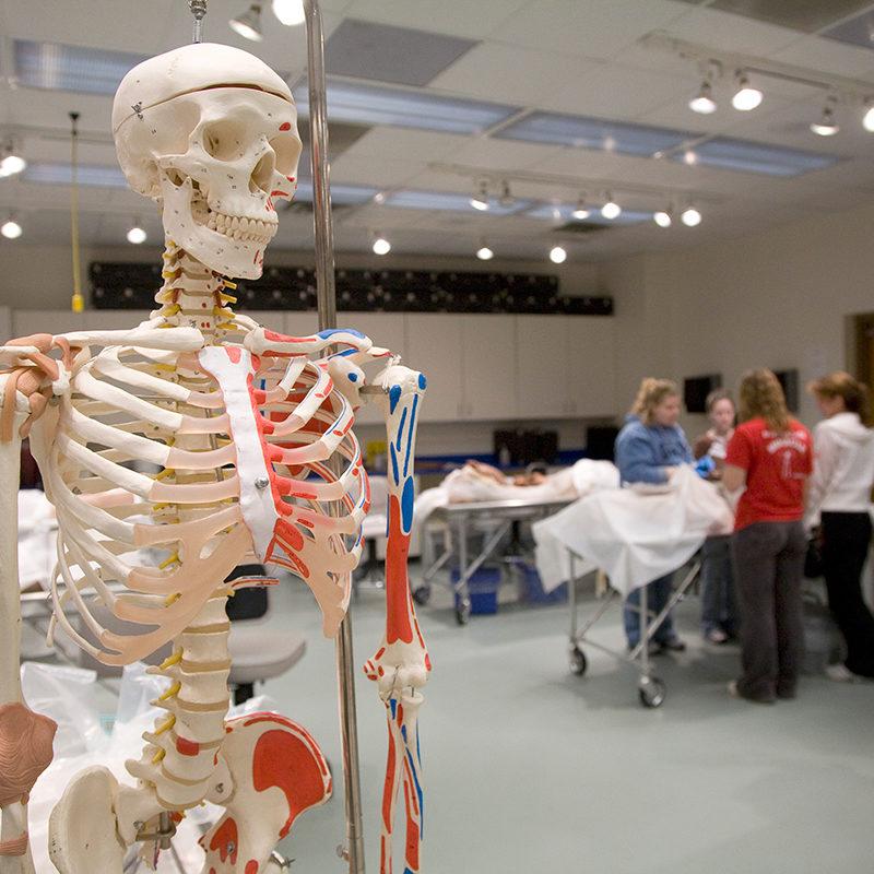 Sneak peak into Nursing School classroom at Clarke University